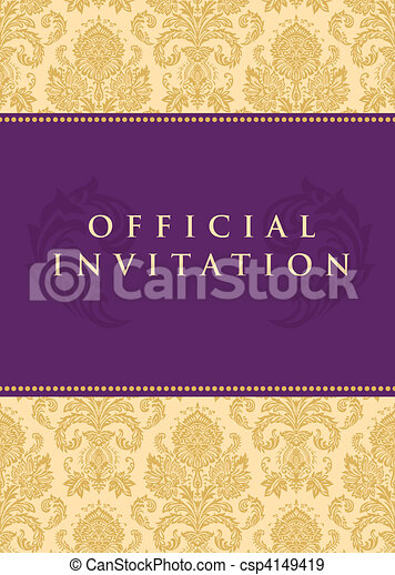 Vector Official Invitation Background - csp4149419