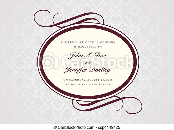 Vector Oval Frame and Sample Text - csp4149425