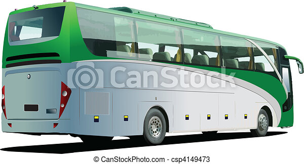 Tourist bus. Coach. Vector - csp4149473