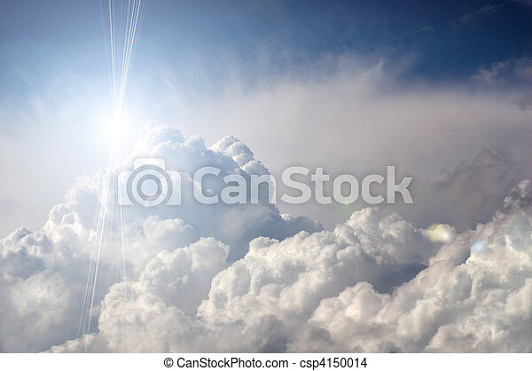 dramatic storm clouds with sun - csp4150014