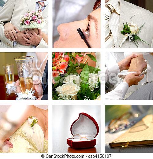 färg, foto, sätta, bröllop - csp4150107