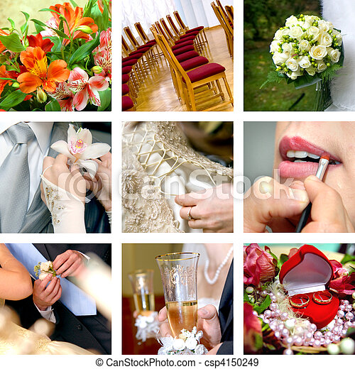 färg, foto, bröllop - csp4150249