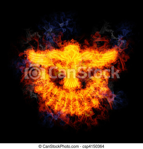 Fiery Dove of the Holy Spirit. - csp4150364