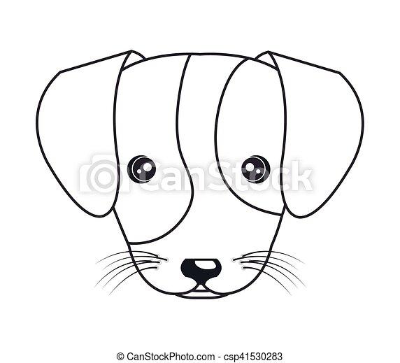vecteur de mignon dessiner chiot dessin anim main dessin anim csp41530283. Black Bedroom Furniture Sets. Home Design Ideas