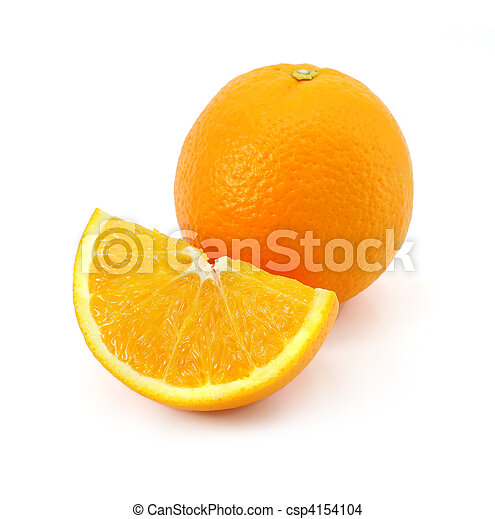 citrus orange fruit isolated on whi - csp4154104