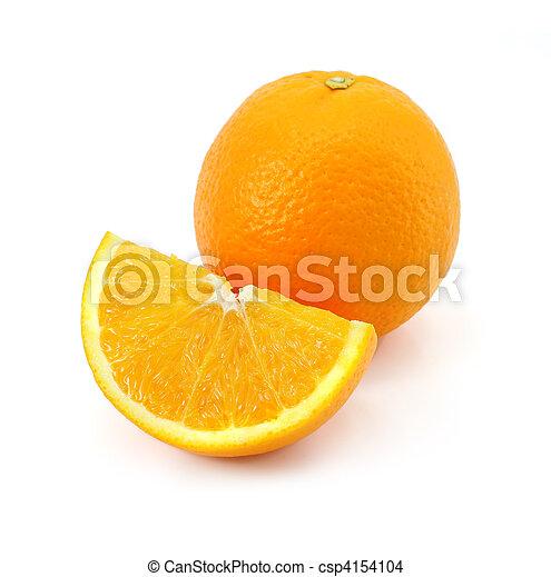 citrus orange fruit isolated on whi - csp4154104