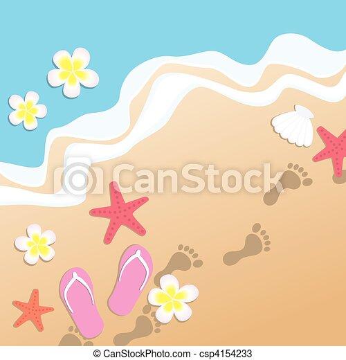 Sandy Beach - csp4154233