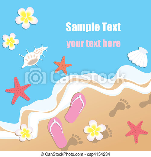 Sandy Beach - csp4154234