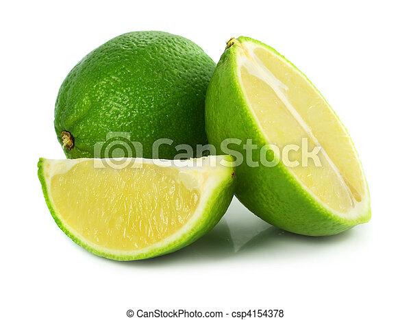 エキゾチック, フルーツ, 緑, ライム - csp4154378