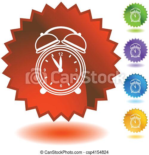 Alarm clock Starburst Icon Set - csp4154824