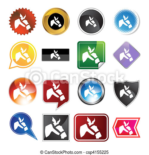 Racing Horse Icon - csp4155225