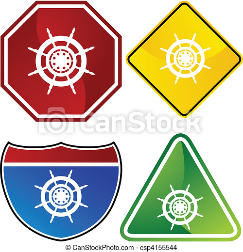 Ship Steering Wheel - csp4155544