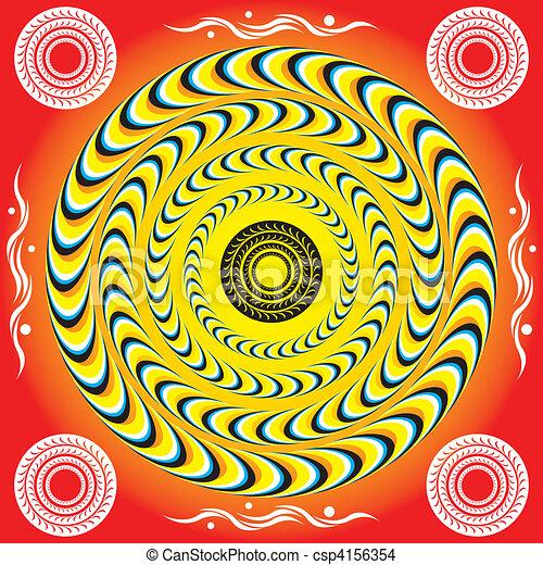 Mystic Rings (motion illusion) - csp4156354