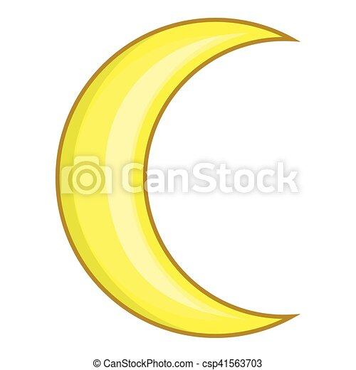 Clipart vecteur de ic ne style lune dessin anim - Dessin de lune ...