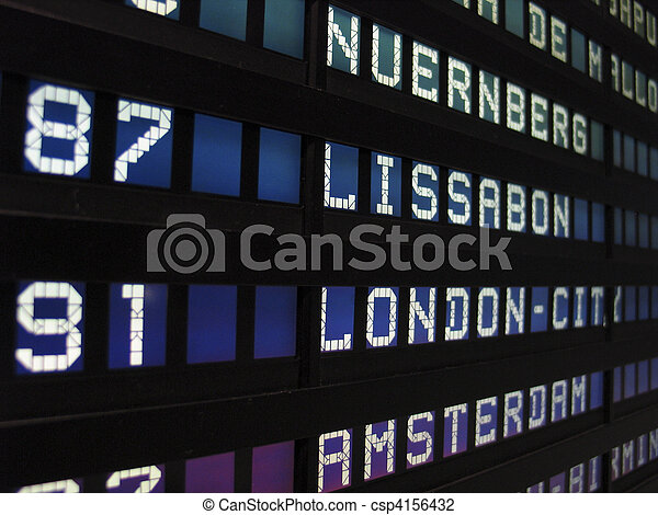 Airport panel - csp4156432