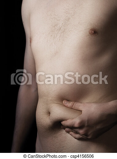 Fat deposit on stomach - csp4156506