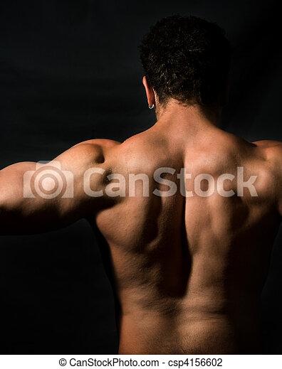 Muscular masculine back - csp4156602