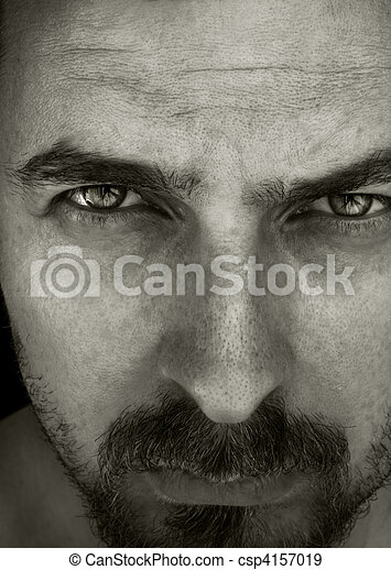 Close-up portrait of masculine guy - csp4157019