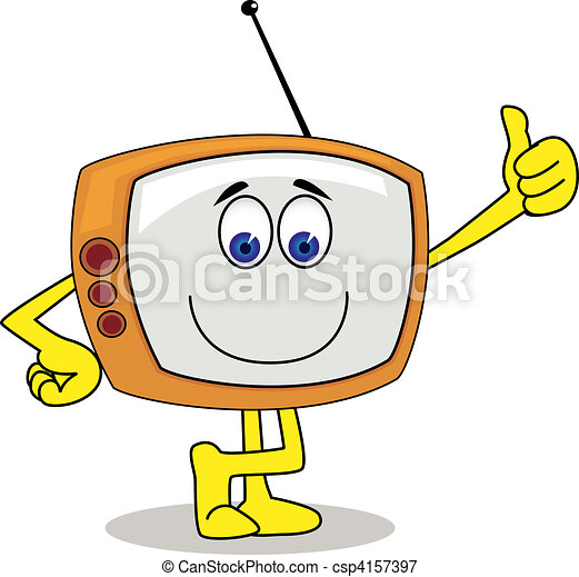 Television cartoon character - csp4157397