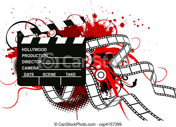Movie theme background - csp4157399