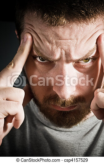 Annoying headache - csp4157529
