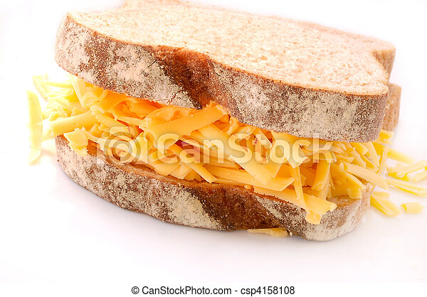 Grated Cheese and Wholemeal Bread Sandwich - csp4158108
