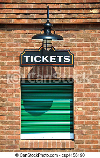 Stock Photography of Ticket Office - New Box Office with Closed ...