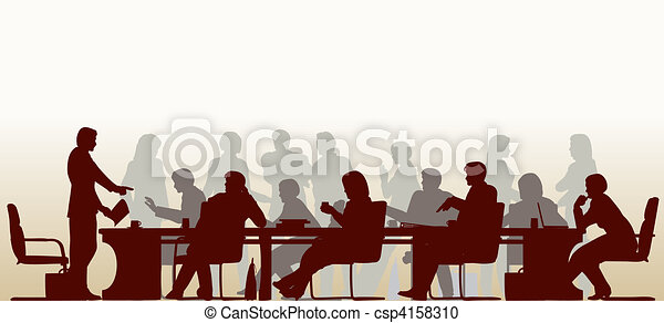 Busy meeting - csp4158310