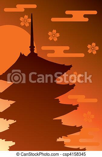Five Story Pagoda  - csp4158345