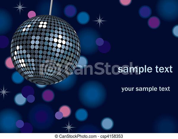 Background Mirror Ball - csp4158353