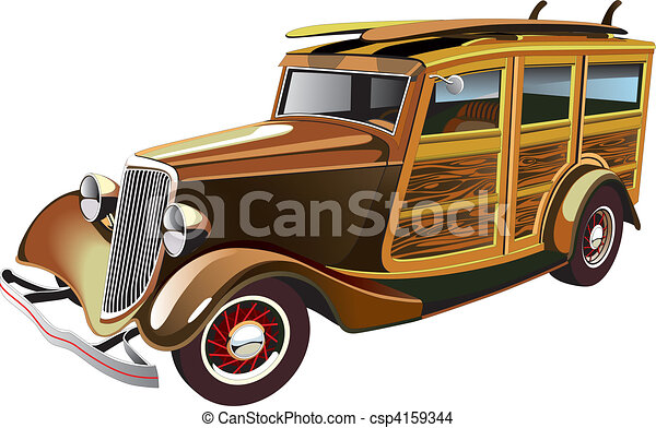 Old-fashioned hot rod - csp4159344