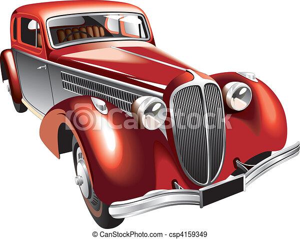 Luxurious vintage car - csp4159349