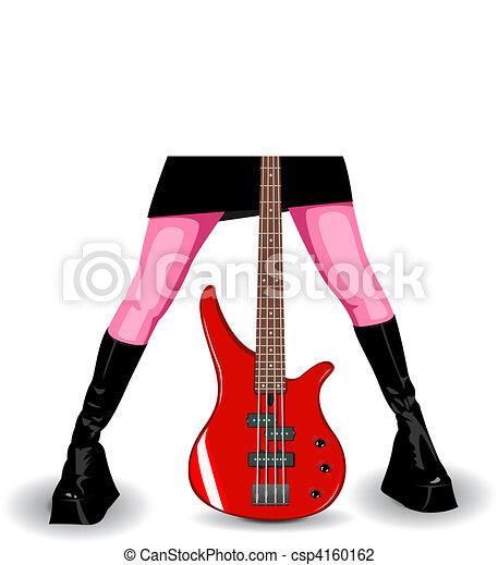 Vector bass guitar - csp4160162