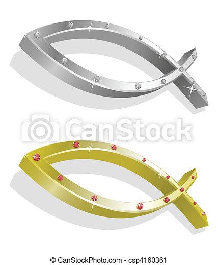 Vector illustration of icthus - csp4160361