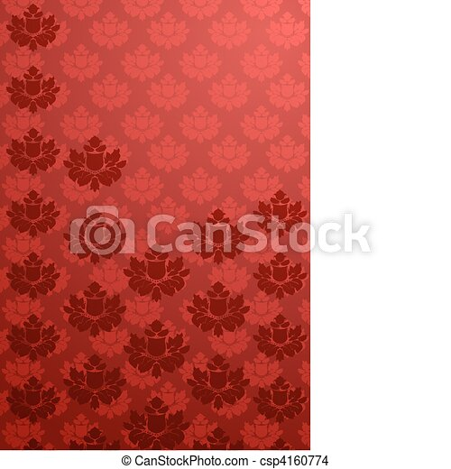 Vertical red glamour pattern  - csp4160774