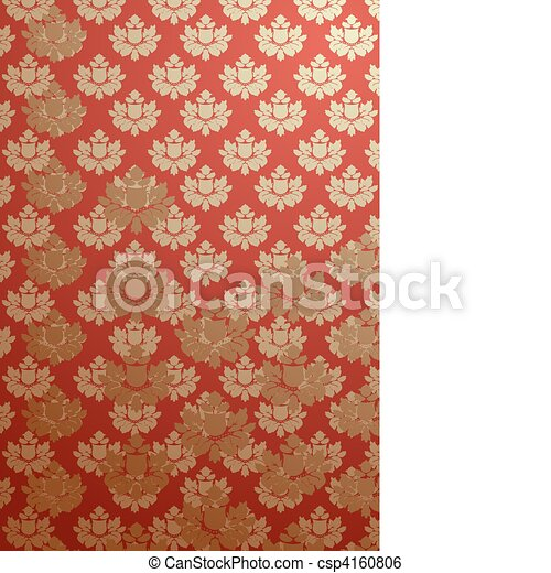 Vertical red glamour pattern  - csp4160806