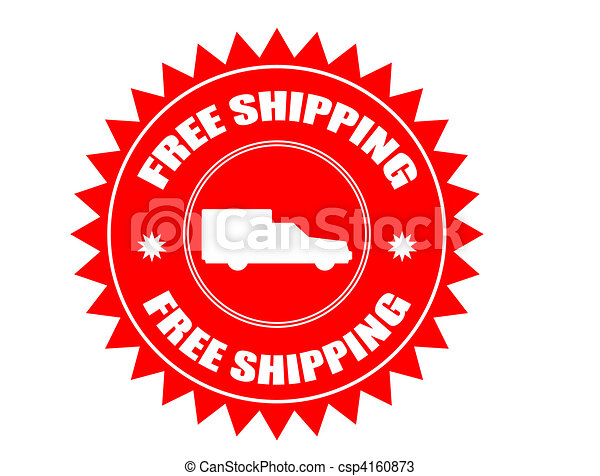Free shipping stickers - csp4160873