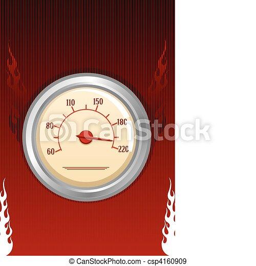 Vector speedometer with fires - csp4160909