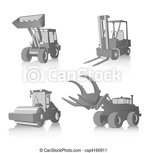 Vector set of industrial machines - csp4160911