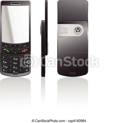 Vector black cellphone-slider - csp4160984