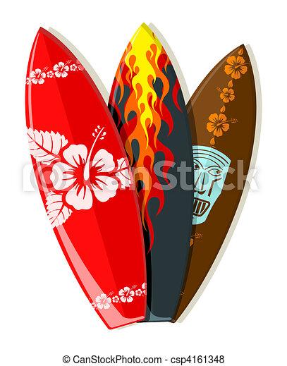 Vector surf boards  - csp4161348