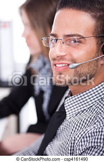 Business executive servicing the customer - csp4161490