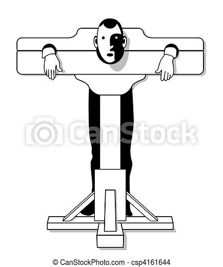 Eps vector of medieval torture device csp4161644 search clip art illustration drawings and - Clipart tortue ...