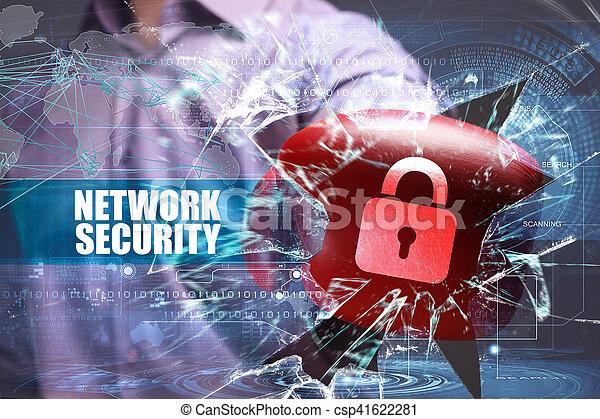 tecnologia, affari, security., sicurezza internet, rete - csp41622281