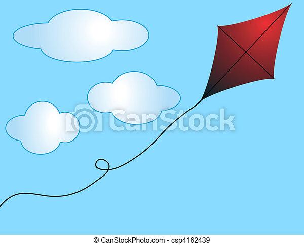 Run Away Kite - csp4162439