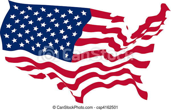 United States Shaped Flag  - csp4162501
