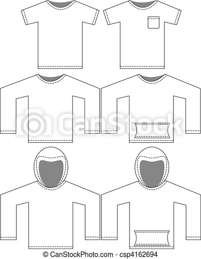 Set of Blank Shirt Templates - csp4162694