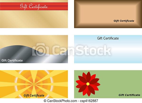 Set of Gift Certificates - csp4162887