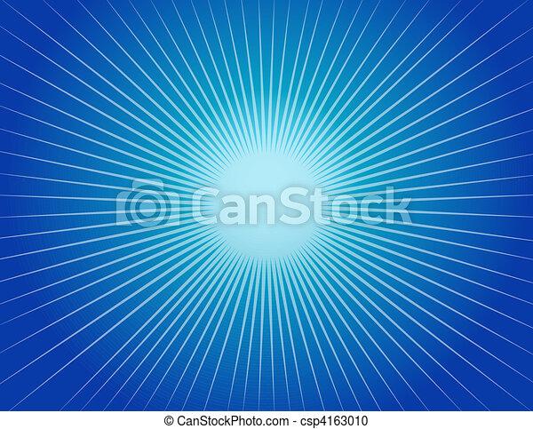 Abstract Blue Starburst Background - csp4163010