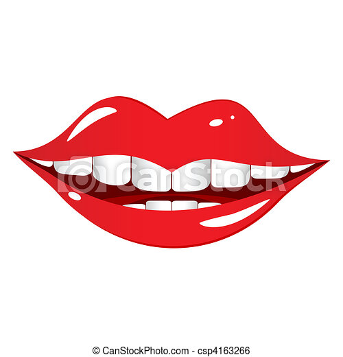 Mouth laughs. - csp4163266